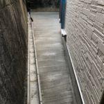 土間コンクリート刷毛引き仕上げ・U字溝設置(堺市)
