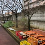 大学ブロック塀撤去フェンス工100m区間 (堺市内)その1
