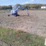 田んぼ 排水位置変更に伴う勾配撮り直し