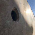 ②お隣との境界高さ約2mのブロック塀を擁壁へ改修工事(堺市)