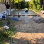 BBQ用土間コンクリート 35平米