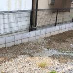 老朽化したブロック塀とメッシュフェンスの改修工事