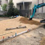 【個人様】お庭を畑に 駐車スペース水たまり防止   整備工事